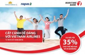 Vé máy bay giảm đến 35% cho khách hàng Maritime Bank