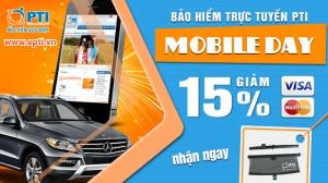 Nhân Mobileday - PTI giảm 15% phí bảo hiểm vật chất ô tô