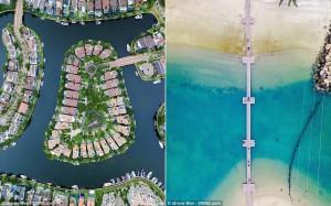 Kiến trúc ấn tượng của Singapore nhìn từ trên cao