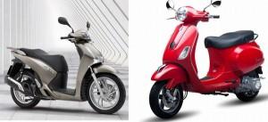 Có 70 triệu, nên mua Honda SH hay Vespa LX?
