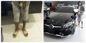 Người đàn ông đi dép lê vào mua xe Mercedes và cái kết sâu cay