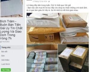 Cảnh giác chiêu lừa rao bán tiền giả qua mạng