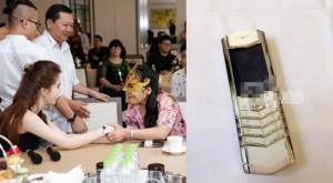 Choáng với giá điện thoại Vertu Ngọc Trinh tặng người mua siêu sim