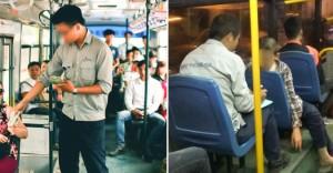 Cậu bé đi xe buýt quên mang tiền vé, anh phụ xe xua tay và câu chuyện bất ngờ phía sau