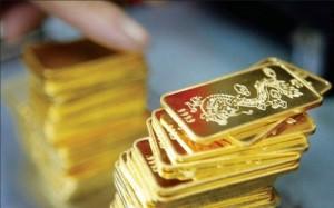 Giá vàng sụt giảm sáng đầu tuần