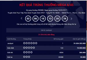 Xổ số Vietlott: Người trúng giải hơn 31 tỷ đến từ Hà Nội?