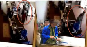 Rùng mình clip nữ nhân viên quán cà phê bị chém liên tiếp vào gáy