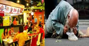 Chủ nhà hàng cho lão ăn xin thức ăn thừa, nhưng nhận một cái tát từ ông, anh sững người nhận ra…