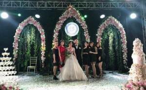Đám cưới ở Hải Phòng chi tiền tỷ hoa tươi, món ăn
