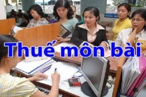 Lệ phí môn bài đối với hộ kinh doanh được tính thế nào?