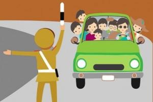 Ô tô chở quá số người quy định phạt thế nào?