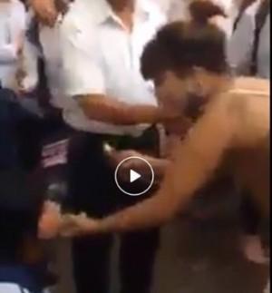 Nữ sinh bị làm nhục ngay trước cổng trường vì nghi ngủ với người có vợ