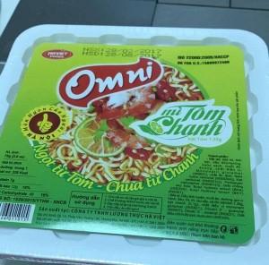 Có ruồi trong túi rau sấy Mỳ Omni?