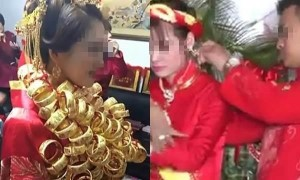 Mẹ vợ trao 50 cây vàng giả cho vợ, chú rể liền tới tháo chỗ vàng ấy xuống và...
