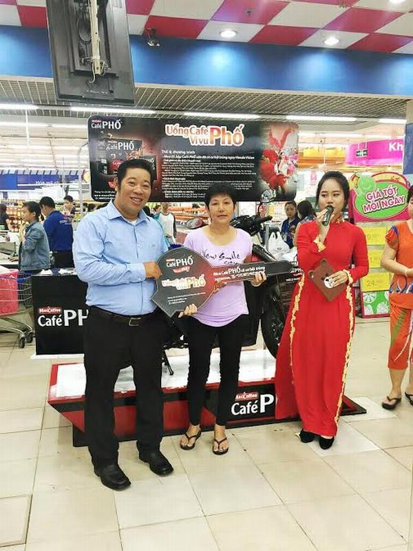 Café PHỐ trao 18 xe Vision cho khách hàng trúng  thưởng đợt 1