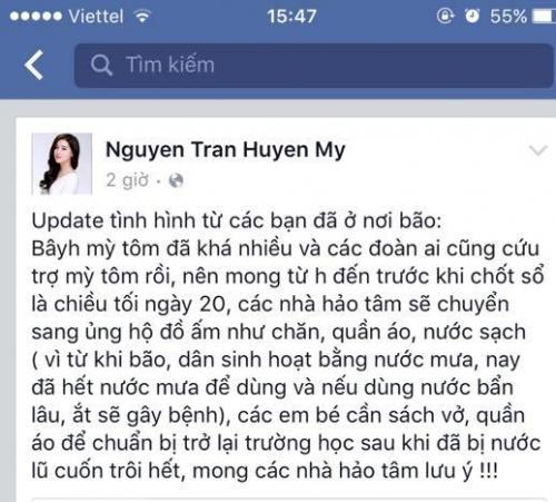 Á hậu Huyền My nói gì khi bị so sánh tiền từ thiện với Phan Anh?