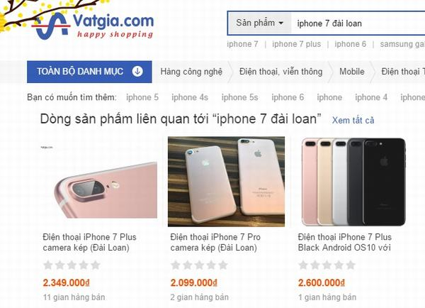 Cảnh giác cao độ với iPhone 7 hàng nhái tung hoành giáp Tết