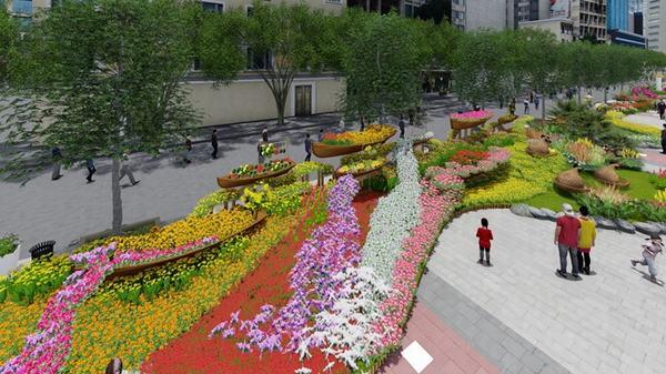 Đường hoa Nguyễn Huệ 2017 sử dụng hiệu ứng ánh sáng 3D