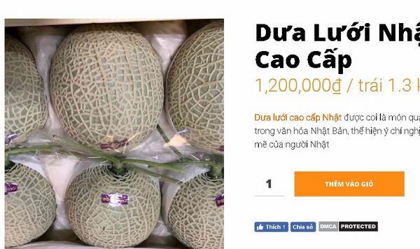 Quả nửa tỷ của Nhật đang được bán tại Việt Nam giá bao nhiêu?